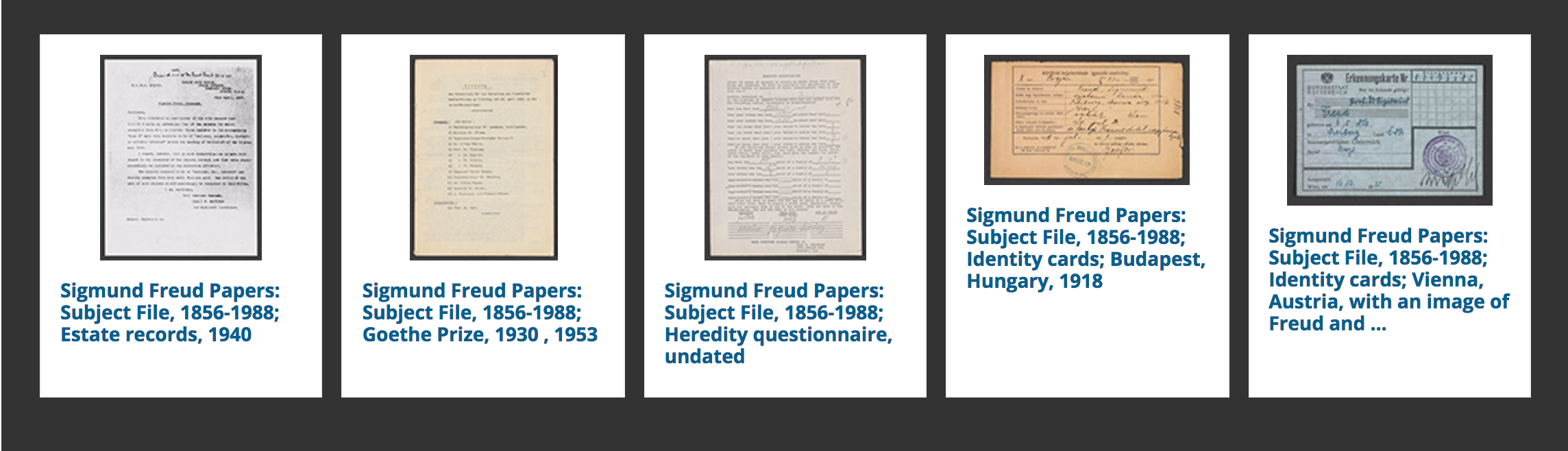 Documents Sigmund Freud